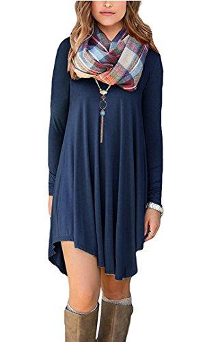 Womens-Long-Sleeve-T-Shirt-Dress
