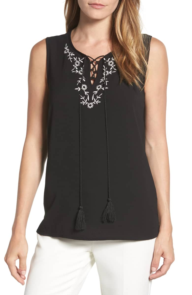 Embroidered-Sleeveless-Blouse