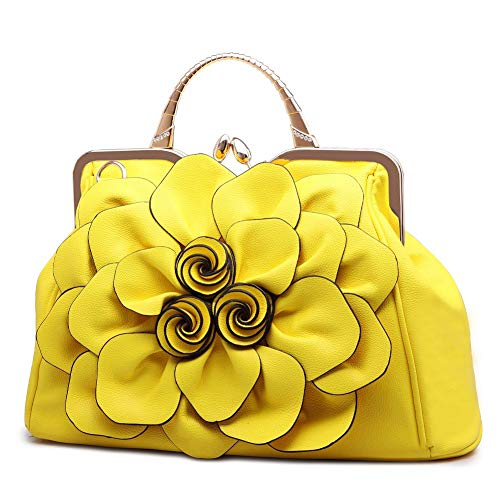 Flower-Satchel-Bags-for-Women-Purses-and-Clutches