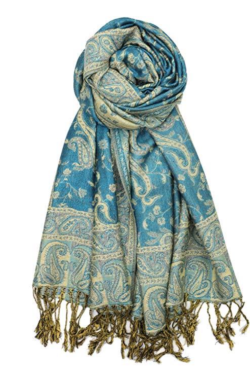 Gorgeous Pashmina Paisley Shawl//Wrap//Scarf