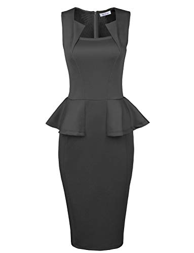 Womens-Classy Neck-Detail-Sleeveless-Zip-up-Midi Dress