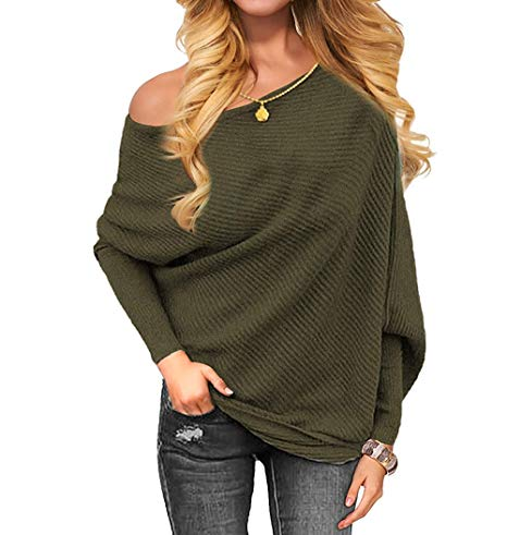 Women's Off The Shoulder Sweater Pullover Sweaters Fashion Sweatshirts