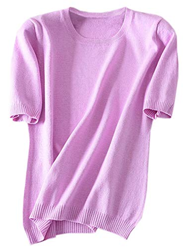 Women's-Short-Sleeve-Cashmere-Blend-Shirt